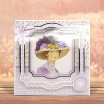 """Deluxe Bastelset with punched, great pictures and Luxury Designer cardboard """"My Fair Lady"""" Set No.3"""
