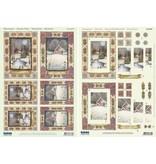 """BASTELSETS / CRAFT KITS: 2 Deluxe feuilles decoupees: 3D Stanzbogenset """"paysages de Noël"""""""