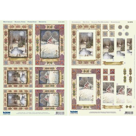 "BASTELSETS / CRAFT KITS: 2 Deluxe Die cut sheets: 3D Stanzbogenset ""Christmas landscapes"""