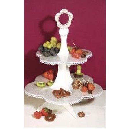 Objekten zum Dekorieren / objects for decorating MDF étagère, 45 cm, 4 - Piece Set, ci-dessous, au-dessus ø35cm ø25cm