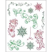 selos transparentes, Natal 3D Tema