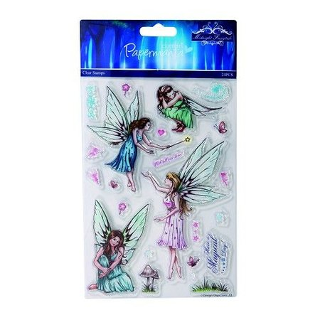 Docrafts / Papermania / Urban 5x7 clear stamps - midnight fairytale (fairies)