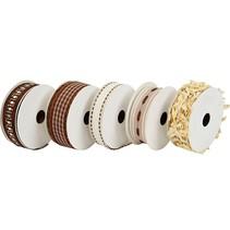 5 rubans décoratifs