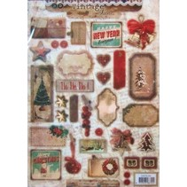 A4 cut sheets, Vintage Line Christmas labels / Trailers Studio Light