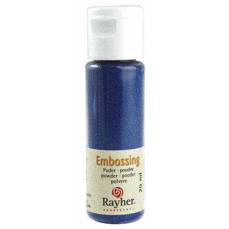 FARBE / INK / CHALKS ... mbossingspulver: azul real, opaca