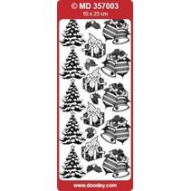 Detailliert geprägte Sticker, Weihnachtsmotive
