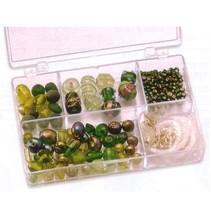 Schmuckbox glasperler sortiment grønne