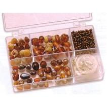 Schmuckbox glasperler sortiment brun