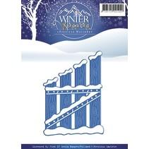 Corte y estampado en relieve plantillas, Winter Wonderland