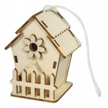 Wooden bird house, 6x4, 5cm