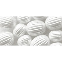 Billes rainurés, blanc, 8mm