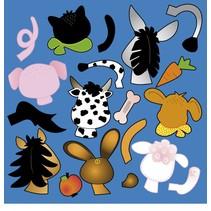 Scrapbooking paper: Stanzbogen animal heads