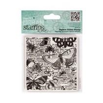 Square Urban Stamp - Lepidopterology9.5x9cm