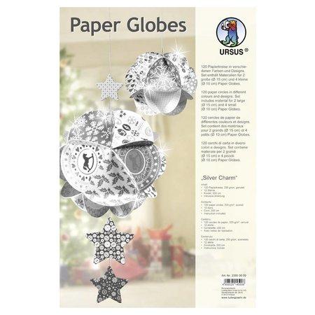 """Dekoration Schachtel Gestalten / Boxe ... Papir Globes, """"Silver Charm"""""""