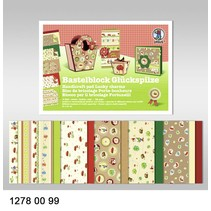 """Crafting block """"lucky"""", block = 16 sheets, 24x34cm, 300g, printed on both sides"""