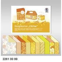 "Designkarton ""Citrine"", Block á 20 Blatt, 24x34cm, 200gr, doppelseitig bedruckt"