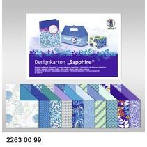 "Designkarton ""Sapphire"", Block á 20 Blatt, 24x34cm, 200gr, doppelseitig bedruckt"