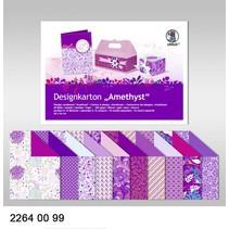 """Designkarton """"Amethyst"""", Block á 20 Blatt, 200gr, doppelseitig bedruckt"""