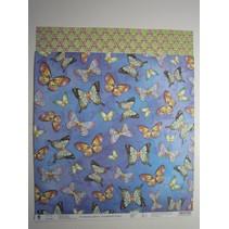 """Papier de qualité supérieure Glitter Scraphook, """"papillons"""", 190g"""