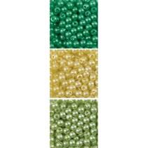 perles Trio acrylique, 3mm, 3 x 4gr., Rond assortiment.