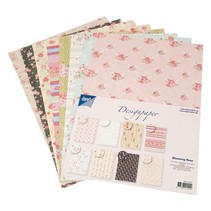 Designer Block fra Joy Crafts, 16 ark, A4, Blooming Rose