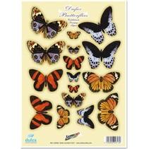 """Die Cut gravure en tôle, """"papillons Dufex No.3"""""""