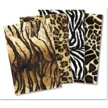 Plush karton sortiment: Tiger, Panther, Zebra, Giraf