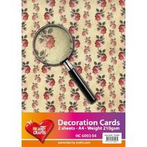 Designerpapier, A4 Bogen, 210gr, wunderschönes Rosen Design