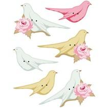 Tilda botones adicionales para las aves de decoración, 40 x 15 hasta 45 x 20mm, 6pcs.