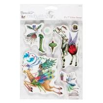 sellos de goma, temas de Navidad con renos nostálgica