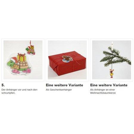 BASTELZUBEHÖR / CRAFT ACCESSORIES 4 films rétractables feuilles avec motif, feuille 10,5x14,5 cm