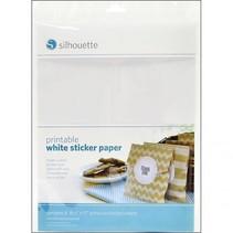 Un papier autocollant imprimable - blanc