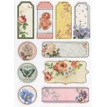 Aglomerado Stickers, flores nostalgia