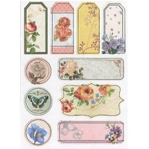 Chipboard Stickers, nostalgia flowers