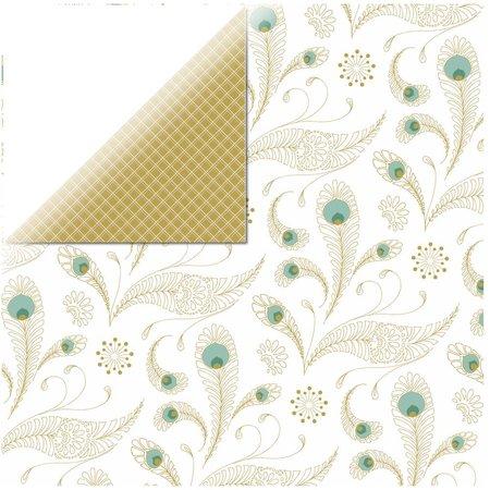 Designer Papier Scrapbooking: 30,5 x 30,5 cm Papier 1 arc designer paper, Elegance - Pure