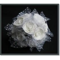 roses en mousse, 12 roses, blanc