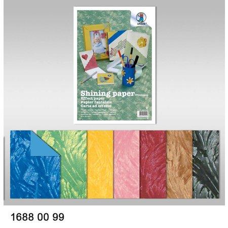 DESIGNER BLÖCKE  / DESIGNER PAPER Effekt Papir, Shining papir, 23 x 33 cm, 230 gr / kvm