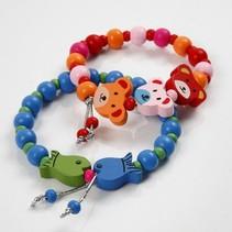 Kits, for children bracelets wooden beads.