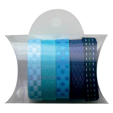 DEKOBAND / RIBBONS / RUBANS ... Marianne Design, 5x90cm cintas azules