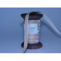 Ribbon in high quality, 15mm x 1.5 mtr, cream on nostalgic coil.