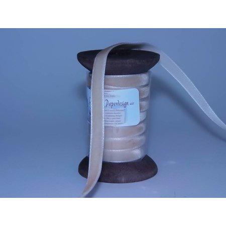DEKOBAND / RIBBONS / RUBANS ... Ribbon in high quality, 15mm x 1.5 mtr, cream on nostalgic coil.