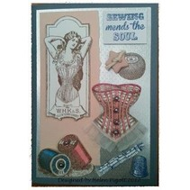 Stamp A5: Sewing mends the soul, 200x140mm