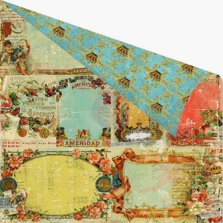 Designer Papier Scrapbooking: 30,5 x 30,5 cm Papier Papel del libro de recuerdos, 30,5 x 30,5 cm, Marketing Prima