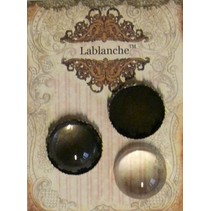 2 glas cabochons med ramme