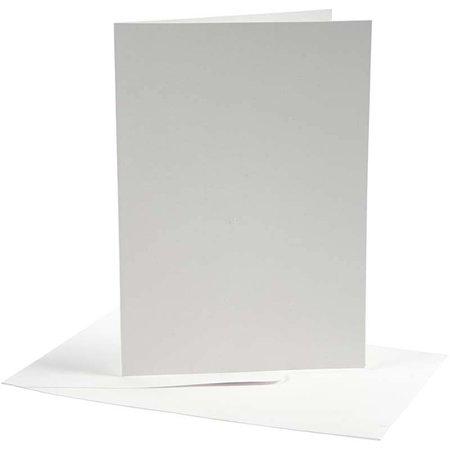 KARTEN und Zubehör / Cards Tarjetas y Sobres, 10,5 x15 cm, blanco, 10 set