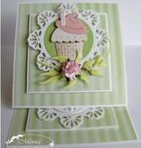 Marianne Design Estampado y Repujado plantilla, magdalena