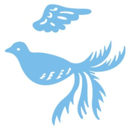 Marianne Design Estampación y embutición de la plantilla, pájaro