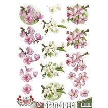 feuilles coupées Die avec des motifs floraux