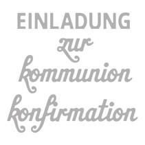 Stanzschablone Set: Text Konfirmation/Kommunion