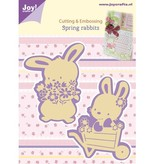Joy!Crafts und JM Creation Corte y estampado en relieve plantillas, 2 primavera del conejito